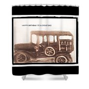 Antique Car For Dads Day Shower Curtain
