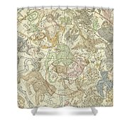 Antique Celestial Map Shower Curtain