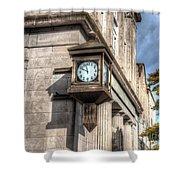 Antique Clock  Edenton North Carolina Shower Curtain