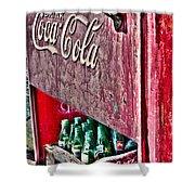 Antique Coca Cola Coke Refrigerator Shower Curtain