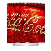 Antique Coca-cola Cooler Shower Curtain