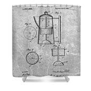 Antique Coffee Percolator Patent Shower Curtain