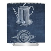 Antique Coffee Pot Patent Shower Curtain