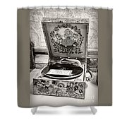 Antique Decca Gramophone By Kaye Menner Shower Curtain
