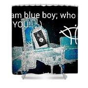 Antique Dresser In Blu Shower Curtain