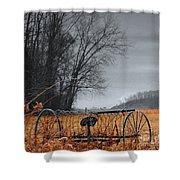 Antique Farm Equipment Shower Curtain