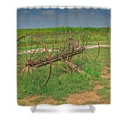 Antique Farm Rake Shower Curtain