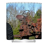 Antique Farmall Tractor 4a Shower Curtain
