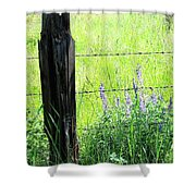 Antique Fence Post Shower Curtain