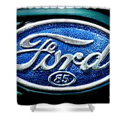 Antique Ford Badge Shower Curtain
