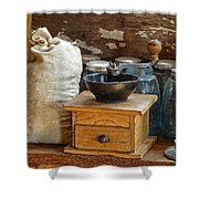 Antique Grinder Shower Curtain