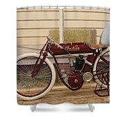 Antique Indian Motorcycle Red...   # Shower Curtain