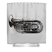 Antique Instrument  Shower Curtain