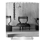 Antique Irons Shower Curtain
