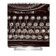 Antique Keyboard - Sepia Shower Curtain