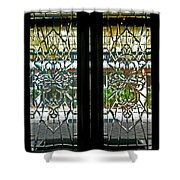 Antique Lead Glass Doors Shower Curtain