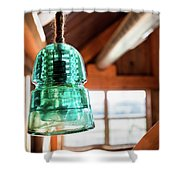Antique Light Fixture 3 Shower Curtain