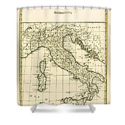 Antique Map Of Italy Shower Curtain