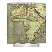 Antique Maps - Old Cartographic Maps - Antique Map Of Africa Shower Curtain