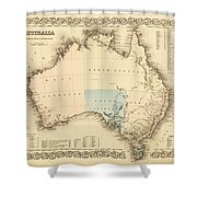 Antique Maps - Old Cartographic Maps - Antique Map Of Australia Shower Curtain