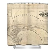 Antique Maps - Old Cartographic Maps - Antique Map Of Cape Cod, Massachusetts, 1836 Shower Curtain
