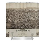 Antique Maps - Old Cartographic Maps - Antique Map Of Ciudad, Mexico, 1890 Shower Curtain