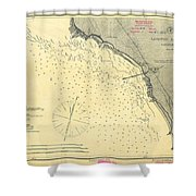 Antique Maps - Old Cartographic Maps - Antique Map Of Lompoc Landing, California, 1888 Shower Curtain