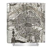Antique Maps - Old Cartographic Maps - Antique Map Of Paris, France, 1643 Shower Curtain