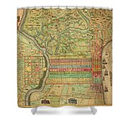 Antique Maps - Old Cartographic Maps - Antique Map Of Philadelphia, Pennsylvania, 1802 Shower Curtain