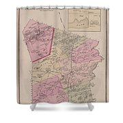Antique Maps - Old Cartographic Maps - Antique Map Of Sudbury, Canada, 1875 Shower Curtain