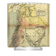 Antique Maps - Old Cartographic Maps - Antique Map Of Syria, 1884 Shower Curtain