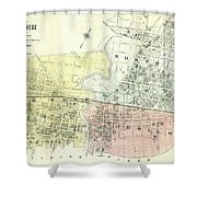 Antique Maps - Old Cartographic Maps - Antique Map Of The City Of Chester, England, 1870 Shower Curtain
