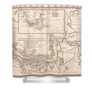 Antique Maps - Old Cartographic Maps - Antique Map Of The Strait Of Magellan, South America, 1787 Shower Curtain