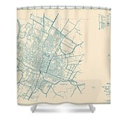Antique Maps - Old Cartographic Maps - Antique Map Of Travis County, Texas, 1936 Shower Curtain