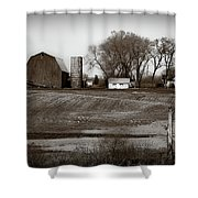 Antique Michigan Farm Shower Curtain
