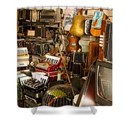 Antique Music Store Shower Curtain