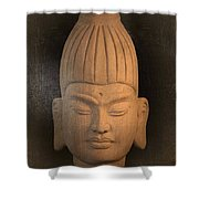 antique oil effect Buddha Burmese Shower Curtain