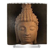 antique oil effect Buddha Sukhothai Shower Curtain