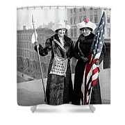 Antique Photo Of Two Women Shower Curtain