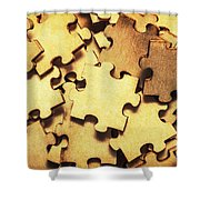 Antique Puzzle Of Missing Links Shower Curtain