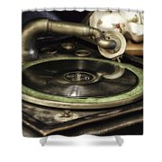 Antique Record Player 01 Shower Curtain
