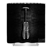 Antique Shoe Stretcher Bw Shower Curtain