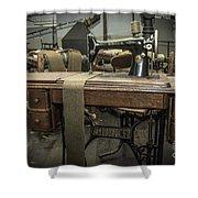 antique Singer Shower Curtain