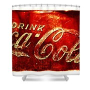 Antique Soda Cooler 2a Shower Curtain