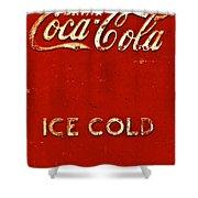 Antique Soda Cooler 6 Shower Curtain