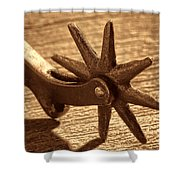 Antique Star Spur Shower Curtain