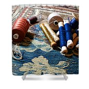 Antique Tapestry Repair  Shower Curtain