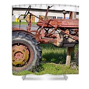 Antique Tractor Shower Curtain