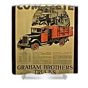Antique Truck Poster Shower Curtain