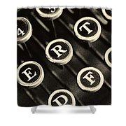 Antique Typewriter Keys Detail Shower Curtain